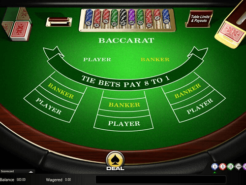Types of Online Baccarat Games