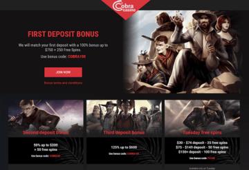 Cobra Casino Bonus Codes
