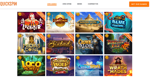 Quickspin Games List