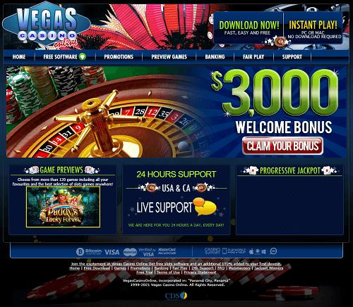 Vegas Casino Online Casino Bonus Codes