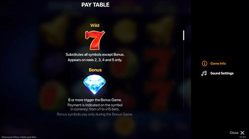 Diamonds Wins Overview