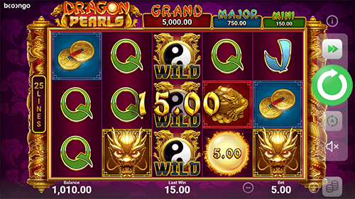 Playing Dragon Pearls Hold and Win for Real Money
