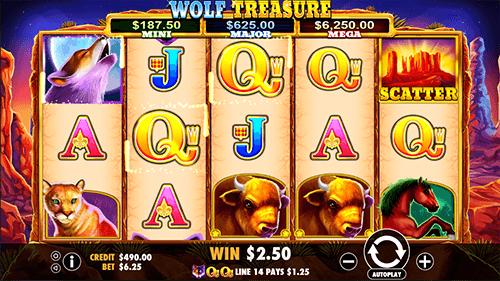 Wolf Treasure Slot Gameplay
